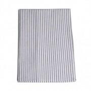 Dille&Kamille Torchon, coton, gris/blanc,à rayures, 50 x 70 cm