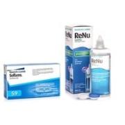 SofLens 59 (6 lentile) + ReNu MultiPlus ® Multi-Purpose 360 ml cu suport lentile