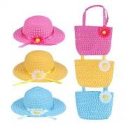 Toyvian Set de bolsitas de satén de Paja para niños 6pcs para decoración Infantil