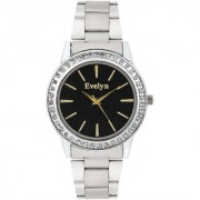 Evelyn Eiffel Tower Black Dial Analogue Metal Strap Wrist Watch For Girls - Women -eve-559