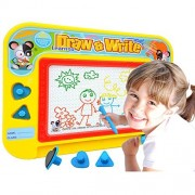 1st Electronic Port Travel Size Color Magnetic Drawing Board for Kids/Toddlers/Babies with 2 Stamps and 1 Pen- Retail Box- Also Named Mini Imaginarium Magic Magical Doodle