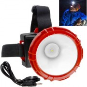 Rechargeable 1 Big Led Ultra Bright Headlamp Headlight Head Lamp Torch Flashlight - 46 A