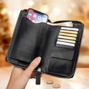 Braun Büffel Multibörse Golf Edition, Brieftasche, Geldbörse und Handy-Hülle, Nappaleder, schwarz