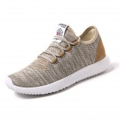 Zapatos Casuales Ligero Transpirable Pisos Malla Para Hombres - Caqui