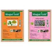 Herbal Powder Hair Color - Henna + Indigo 200Gm X2 Permanent Hair Color