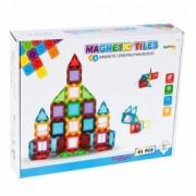 Set de constructie Malplay Magnetic Tiles 45 piese 3D multicolor
