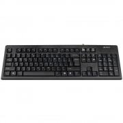 Tastatura A4Tech KR-83, cu fir, US layout, neagra, Rounded key-caps, Laser inscribed keys, USB