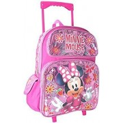 Licensed Minnie Mouse Junior Minnie Mouse Shine Mochila grande con ruedas de 40,6 cm para niñas