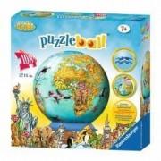 Puzzle 3D Globul Lumii 108 piese