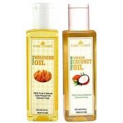 Park Daniel Premium Wheatgerm oil and Virgin Coconut oil combo pack of 2 bottles of 100 ml(200 ml)
