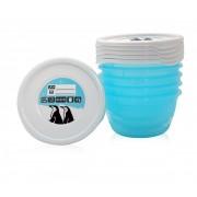 Set 5 recipiente cu capac pentru pastrarea hranei 0,5 litri