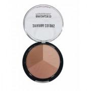 Sivanna 3 Multi-Shade Shimmer Face Pressed Powder Bronzer Natural 4 gm