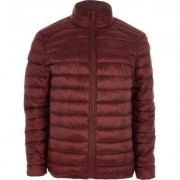 River Island Mens Red funnel neck puffer jacket