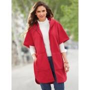 Venca Abrigo capa polar de mujer con capucha y cremallera grosella M