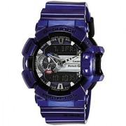 Casio Analog-Digital Blue Round Watch -GBA-400-2ADR (G558)