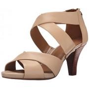 Clarks Women's Florine Sashae Dress Sandal, Nude Leather, 7.5 M US