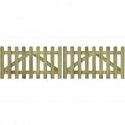 vidaXL Tuinhek poort 2 stuks 300 x 80 cm geïmpregneerd hout