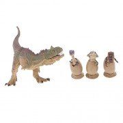 Segolike 4 Sets 6-18cm Safety PVC Dinosaurs Roaring Jurassic Display Figures Model Kids Science & Nature Learning Toys Collectibles, Grey