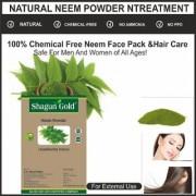 100 Pure Organic natural Neem powder face pack skin treatment 2 x200 Grams