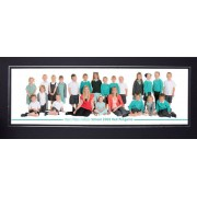 8x18 / 18x8 Black Panoramic Photo Mount with Silver