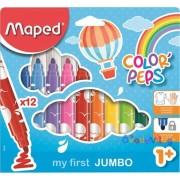 """Filctoll készlet 12db-os MAPED """"Color Peps Maxi"""" mosható"""
