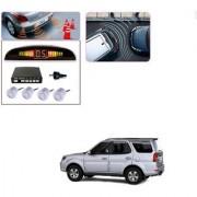 Auto Addict Car Silver Reverse Parking Sensor With LED Display For Tata Safari::Grand Dicor
