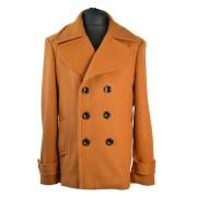 Pánský kabát s dvouřadovým zapínáním