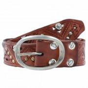 Campomaggi Cinturón tachonado piel cognac 90cm