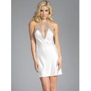 BeWicked Grace witte satijnen jurk (Maat: XXXL/XXXL)