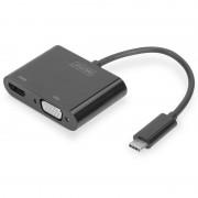 Digitus Adaptador USB Type-C para HDMI/VGA