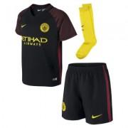 2016/17 Manchester City Stadium Away Fußballtrikot-Set für jüngere Kinder (4–7 J) - Schwarz