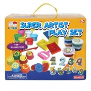 FlySky Super Artist Playset - Paint & Count, Finger Paint, Magic Clay And Funny Dough Set With Many Numbers