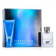Starwalker Coffret: Eau De Toilette Spray 50ml/1.7oz + After Shave Balm 100ml/3.3oz 2pcs Starwalker Комплект: Тоалетна Вода Спрей 50мл + Балсам след Бръснене 100мл