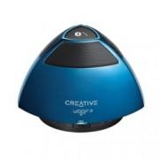 Тонколона Creative WOOF2, 1.0, RMS 1W, Bluetooth/USB, синя, вграден микрофон