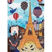 D-Toys Paris Eiffel Tower Romantic Fine Art 1000 Piece Jigsaw Puzzle (DT-1401)