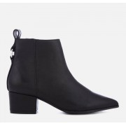 Steve Madden Women's Clover Leather Heeled Ankle Boots - Black - UK 7 - Black