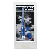 DILATOR - üreges szilikon húgycsővibrátor - kék (7mm)