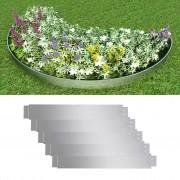 vidaXL Set od 5 fleksibilnih vrtnih ogradica od pocinčanog čelika, 100x15cm