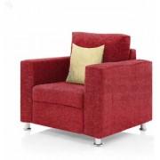 furniture4U - Fully Upholstered Single-Seater Sofa - Premium Valencia Red