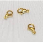 Incuietori 10 mm Placate cu Aur 18 Kt