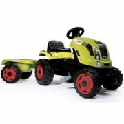 Tractor cu pedale si remorca Smoby Fun Claas Farmer XL