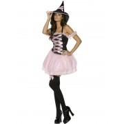 Costum Halloween adulti Vrajitoare Roz