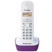 Безжичен DECT телефон Panasonic KX-TG1611 - лилав, 1015051