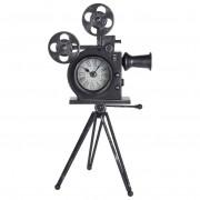 Zegar na biurko komodę stół KAMERA metalowy RETRO