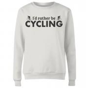 I'd Rather be Cycling Women's Sweatshirt - White - M - White