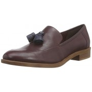 Clarks Women's Taylor Spring Burgundy Leather Loafers and Mocassins - 7 UK