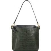 Hidesign FL KELLY 01-CROCO MELBOURNE RANCH-GREEN�MIDNIGHT�BLUE Green Shoulder Bag