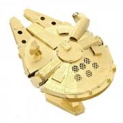 DIY 3D Puzzle modelo de laton Montado Millennium Falcon Juguete - Golden