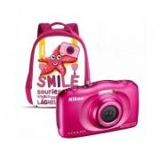 Nikon Aparat NIKON Coolpix W100 Różowy + Plecak