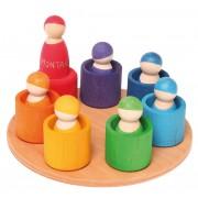 7 prieteni in 7 casute - Set figurine